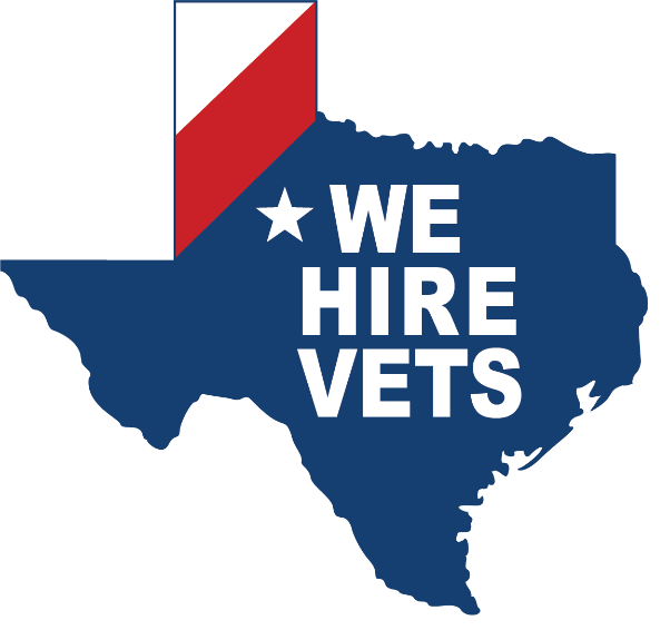 We Hire Vets decal