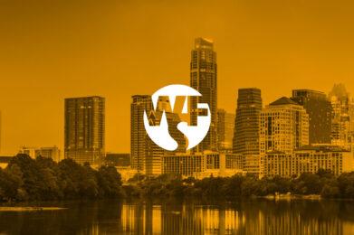 WFS logo in gold